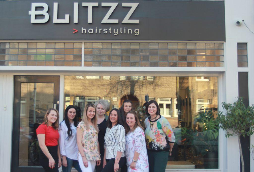Het team van Hairstyling Blitzz in 2018